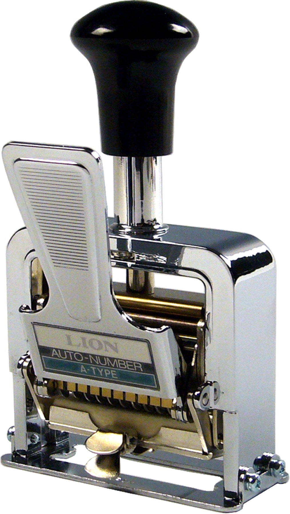 Lion Pro-Line Heavy-Duty Lever-Action Numbering Machine, 10-Wheel, 1 Numbering Machine (A-01)