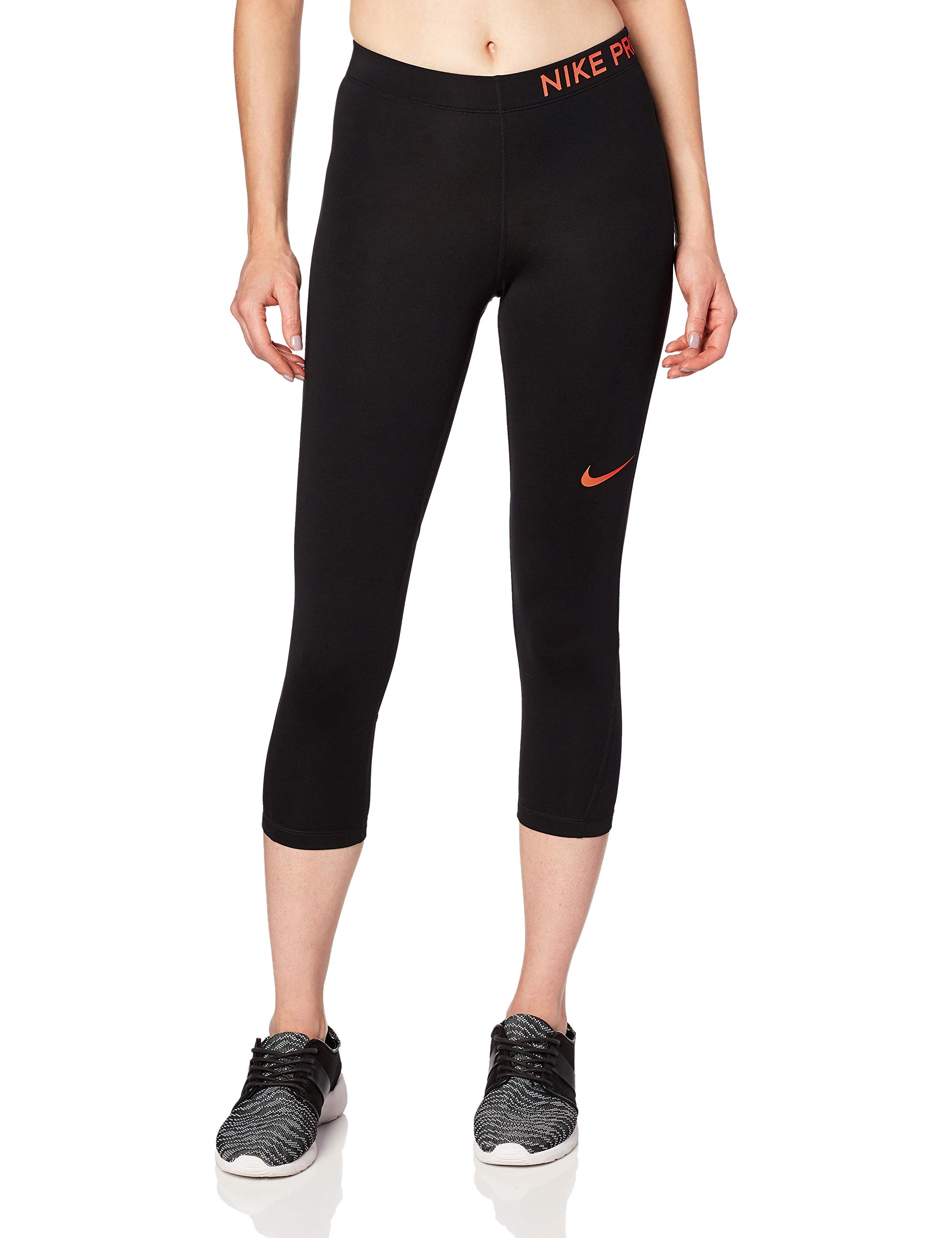 Nike Women's Pro Capri (Black/Racer Pink, M) by Nike