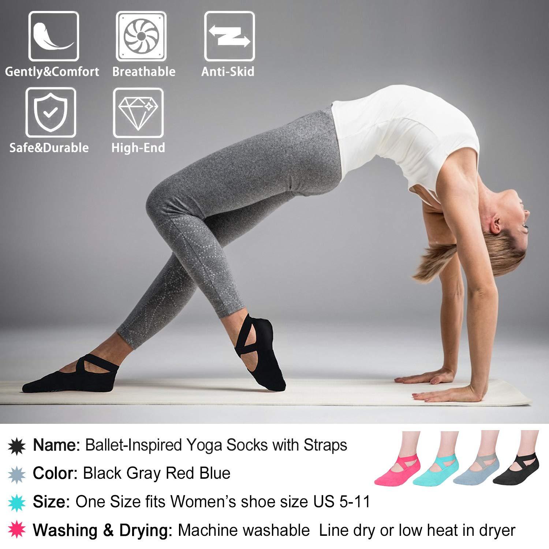 Amazon.com: JONYJ - Calcetines de yoga para mujer ...