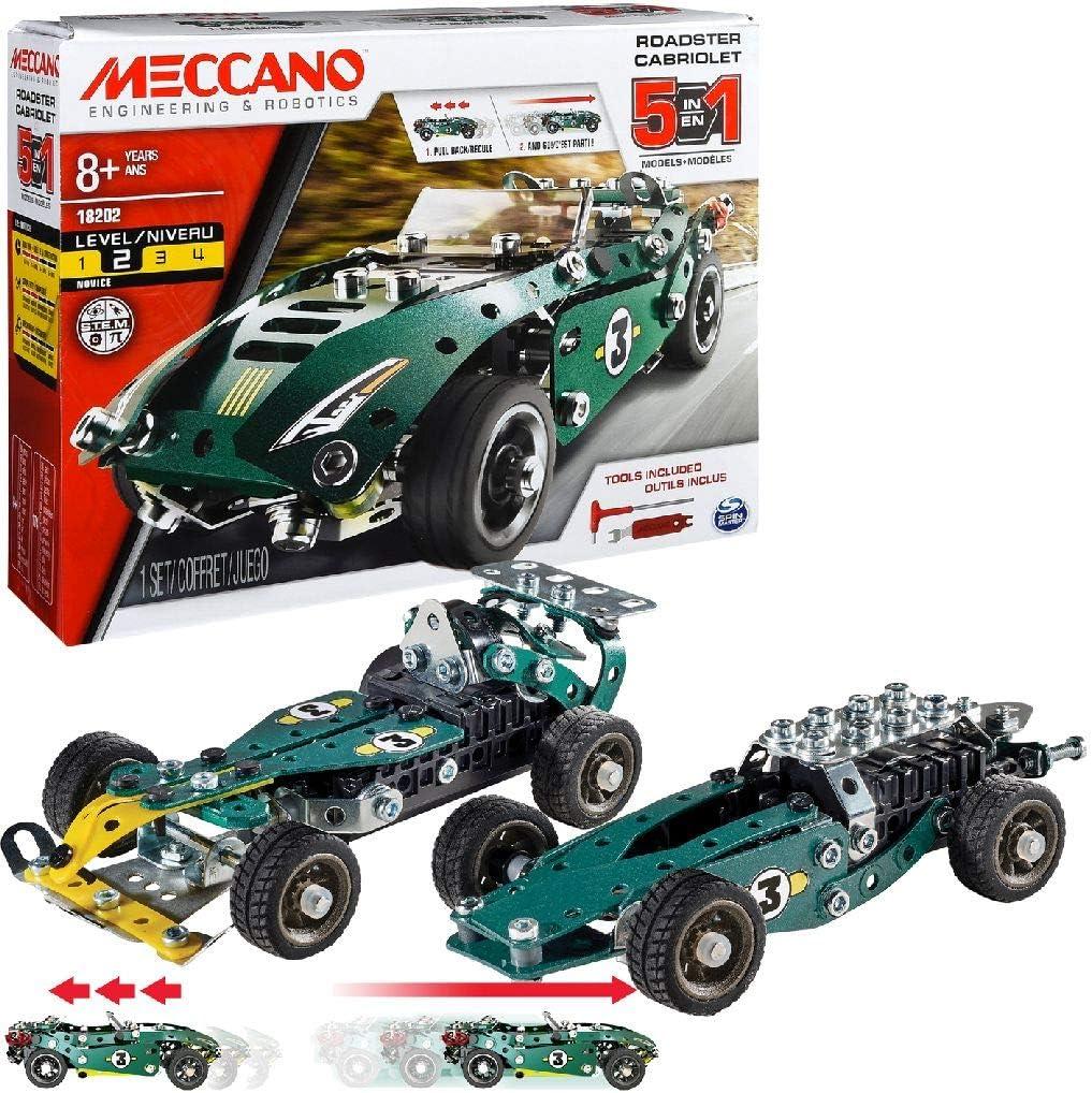 Roadster Cabriolet Meccano 6040176 5 in1 Model Set