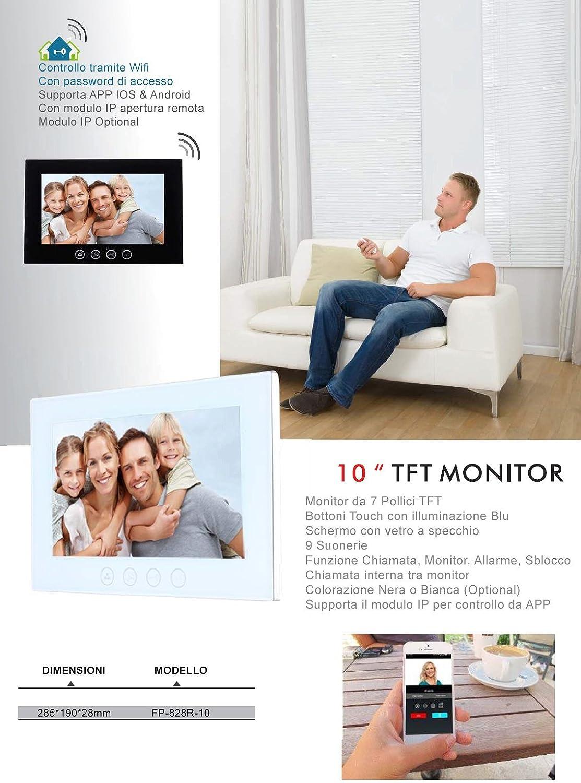 VIDEOCITOFONO 2 FILI 1 2 3 4 MONITOR LCD TOUCH FAMILIARE BIFAMILIARE CONDOMINIALE TELECAMERA 1 Separatore Di Alimentazione