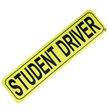 Reflective Next2U Student Driver Sticker Magnetic Sign for Cars Durable Safety Sign for Teen Driver Removable