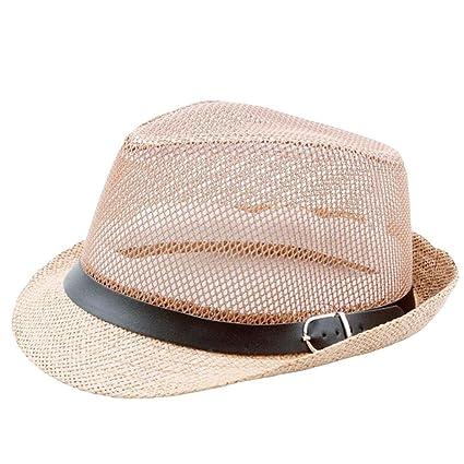 4ddaa259a Amazon.com: Hongxin Straw Beach Hat, Hollow Out Straw Hats Summer ...