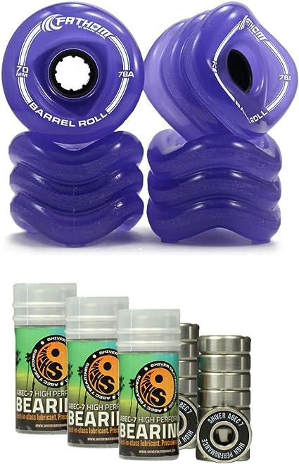 Used White Fathom by Shark Wheel 70MM 4-Piece Skateboard Wheel Set