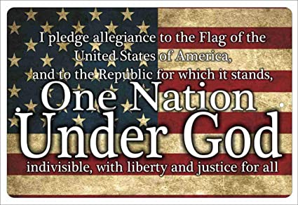 Amazon Com Atd Pledge Of Allegiance One Nation Under God