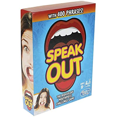 Hasbro Gaming Speak Out Game Mouthpiece Challenge: Toys & Games
