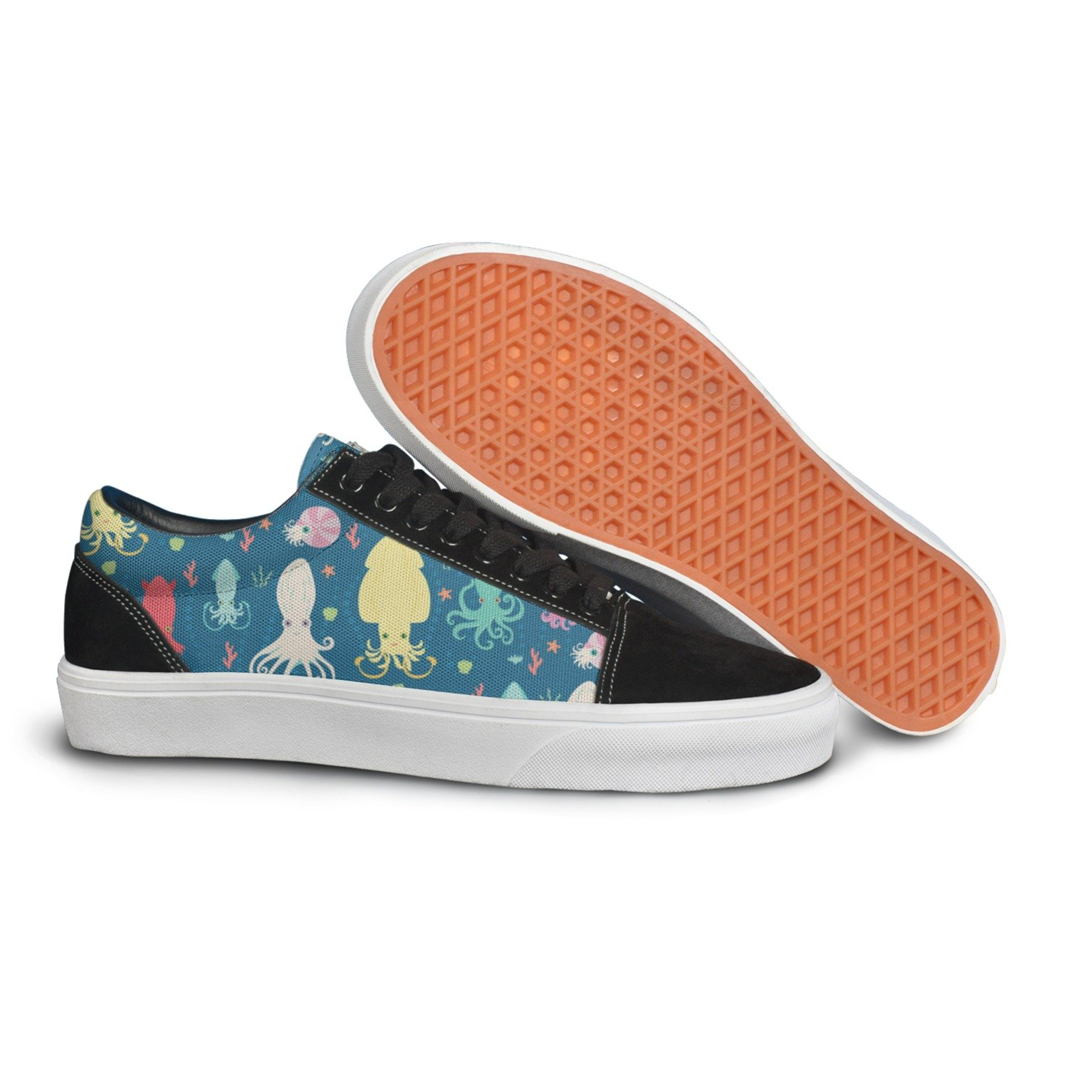 Colorful Cephalopods In Ocean Women Casual Shoes Sneakers Flat Slip On Low Top Trainers