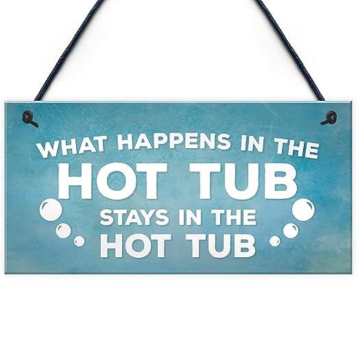 Hot Tub Letrero de Placa de Madera Carteles de Madera ...
