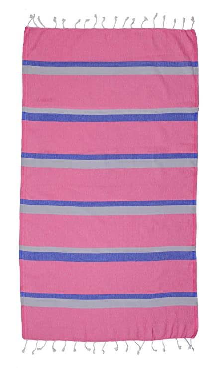 Pestemal and Towel Manta 100 % de algodón Natural, Toalla pestemal de Secado rápido, Color Fucsia, 100 cm x 180 cm, algodón, Perseus Pink, ...