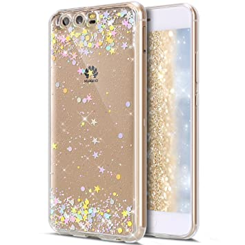 Amazon.com: Huawei P10 Plus Funda, Huawei P10 Plus Glitter ...