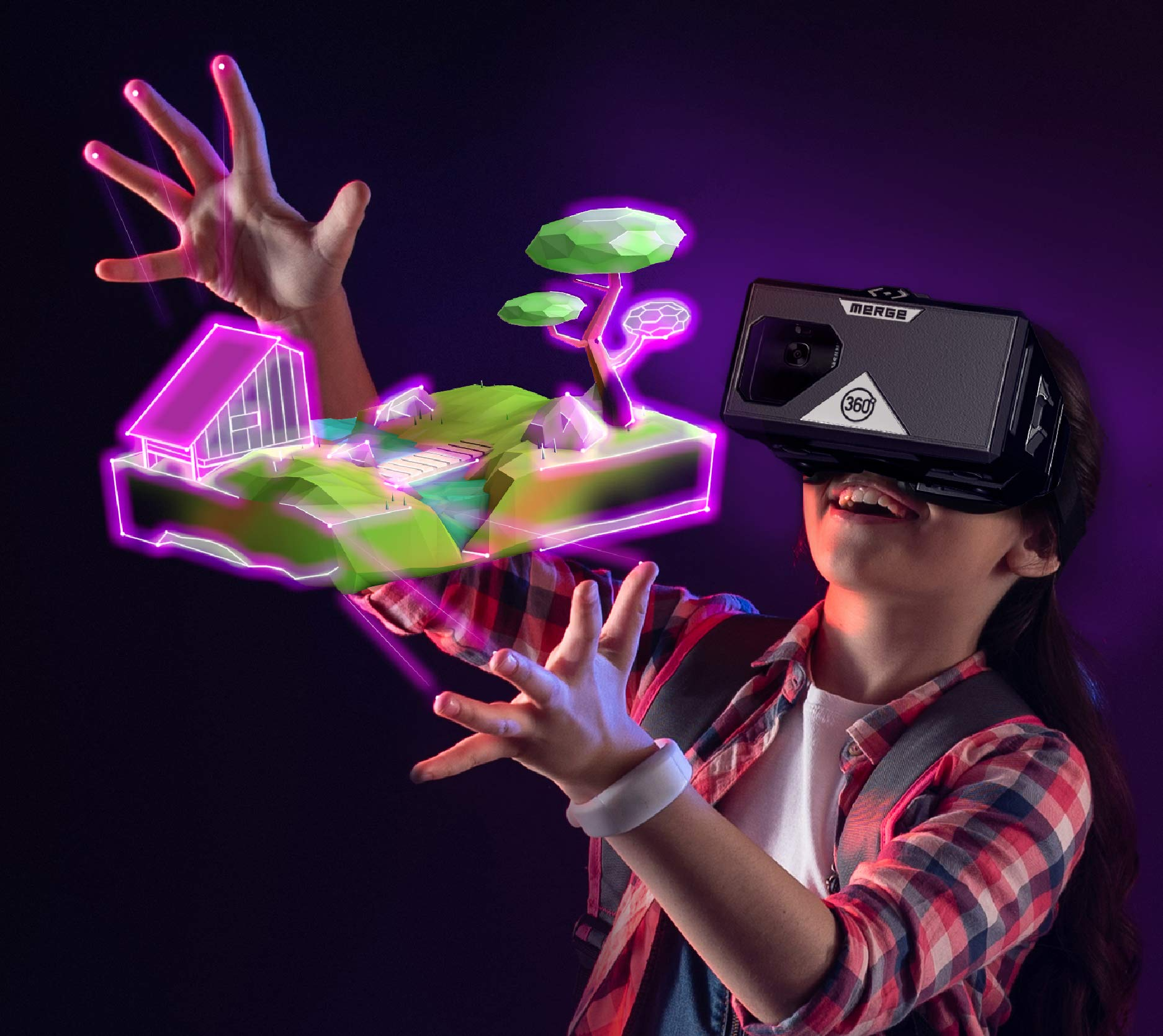 MERGE Cube & Headset Bundle for VR/AR STEM Learning & Mobile Gaming by MERGE (Image #4)