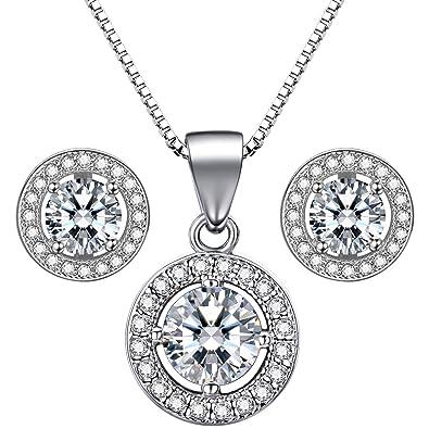 Uhren & Schmuck Der GüNstigste Preis Schmuck-set Silber Ohring Und Kette Brautschmuck
