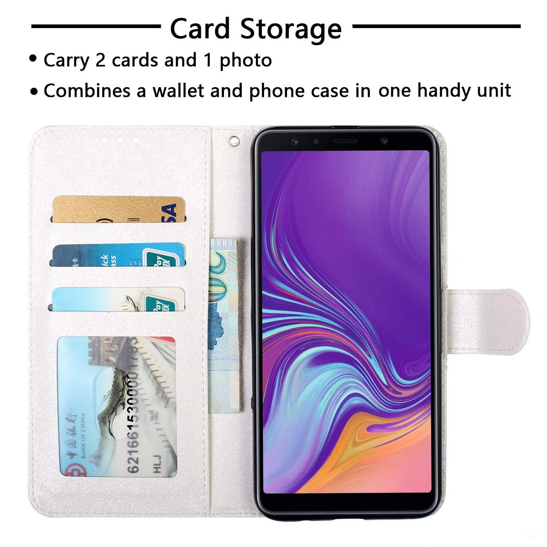 Nadoli Leder H/ülle f/ür Huawei Y6 2018,3D Bunt Magnetverschluss Kartenf/ächer Handytasche Lederh/ülle Brieftasche Etui Schutzh/ülle Geldb/örse Magnet Case f/ür Huawei Y6 2018