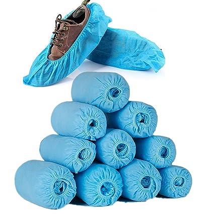 555bfc15 Cubiertas Desechables, Bota Desechable Premium y Cubiertas de Calzado |  Material Duradero y Grueso,