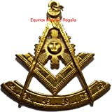 "Masonic Past Master Collar Emblem 3"" for Past Master Regalia GF"