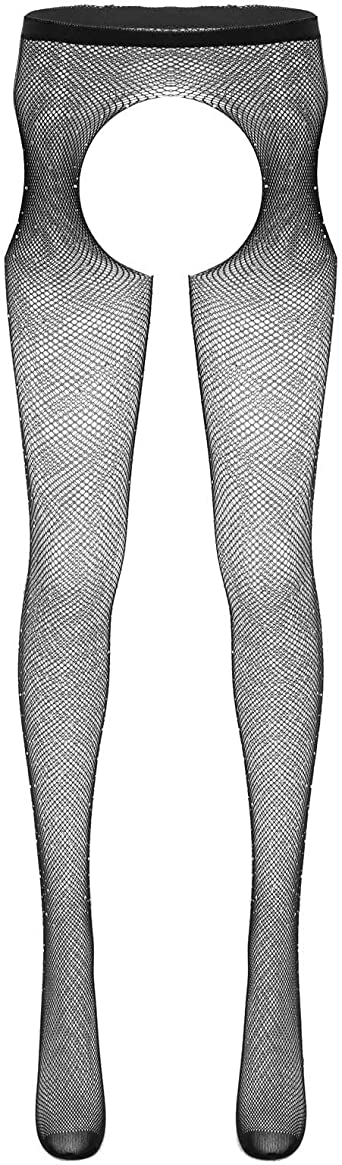 Women/'s Glitter Fishnet Tights Open Crotch Mesh Pantyhose Lady Tights Stockings