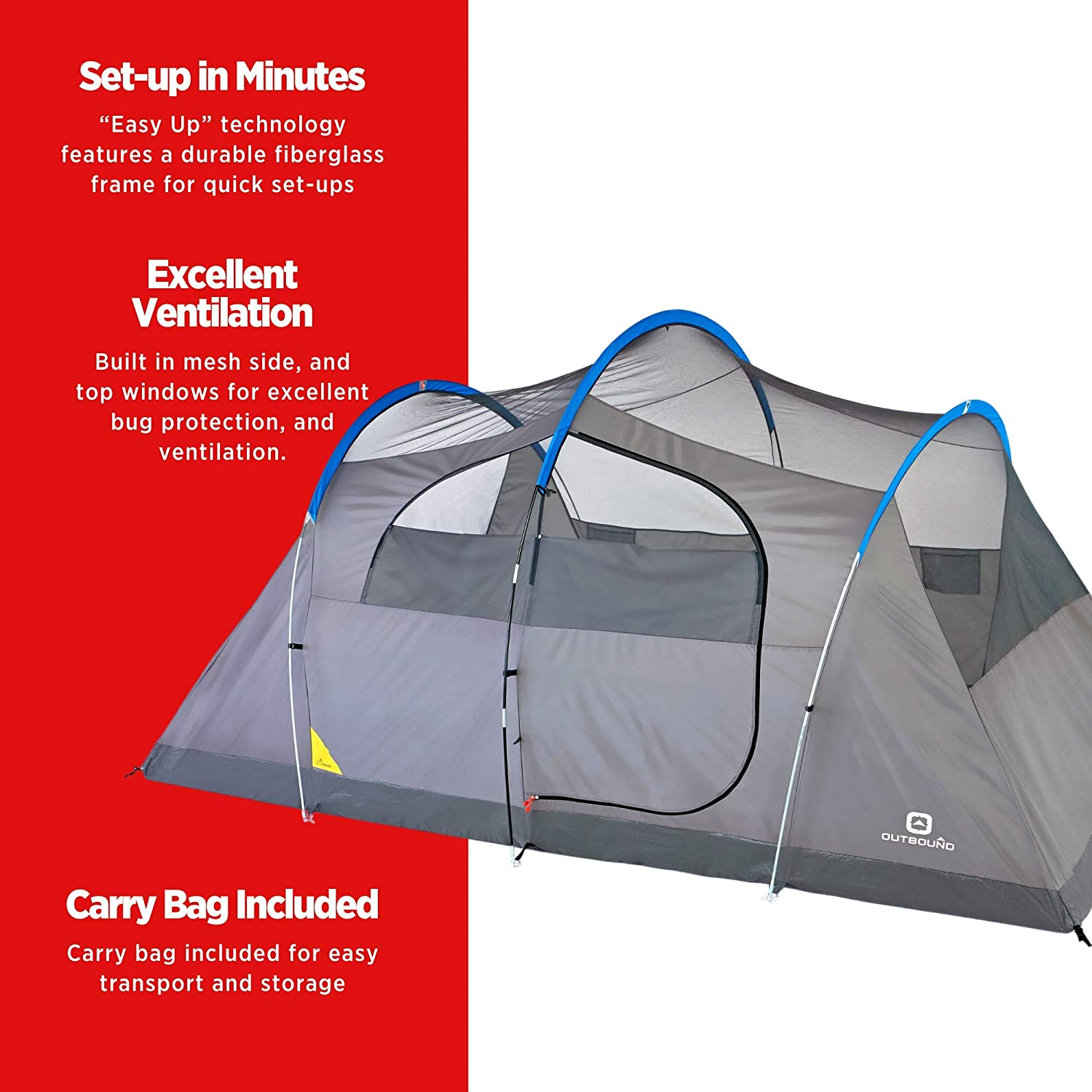 Outbound 8 Person Tent | Instant Pop up