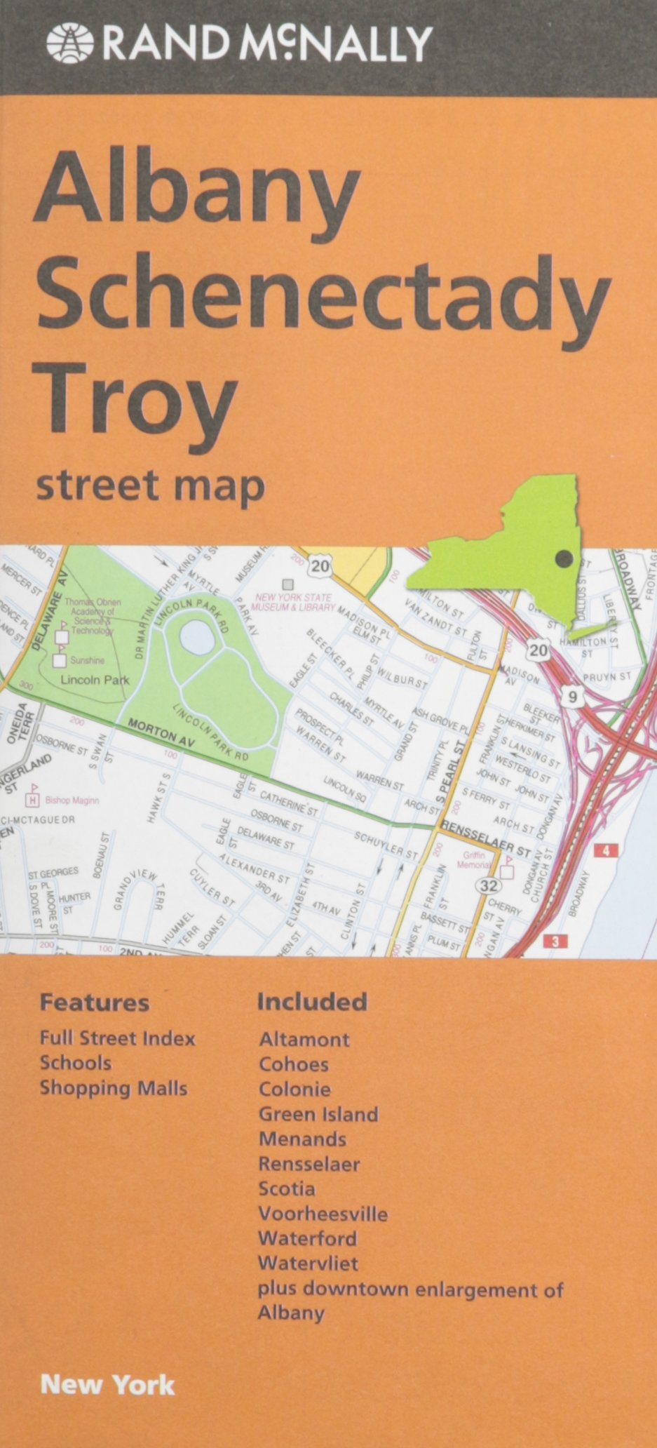 Albany, Schenectady, Troy Street Map Rand McNally: Rand McNally and ...