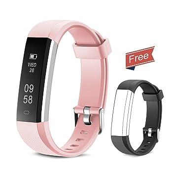 Yuanguo Montre Connectée Fitness Trackers dactivité Podomètre Compteur de Calories Moniteur de Sommeil Smartwatch