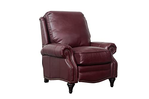 BarcaLounger Avery 7-2160 Push Back Manual Push Back Recliner Chair – 5700-76 Shoreham Wine All Leather