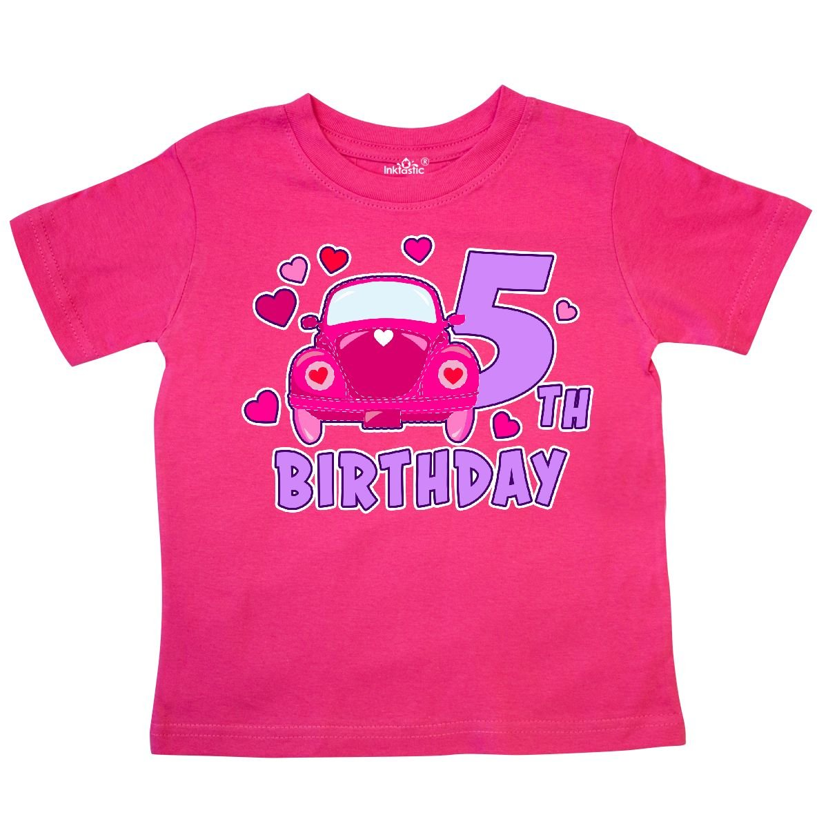 inktastic Love Bug 5th Birthday with Hearts Toddler T-Shirt
