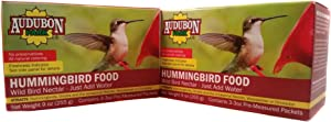 Audubon Hummingbird Concentrate Food 3 3Oz Pre Measured Packets, 2 Boxes of Hummingbird Nectar