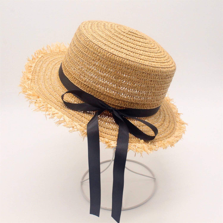 Flat High Sun Hat Summer Spring Womens Travel Caps Bandages Beach Child Traw Hat