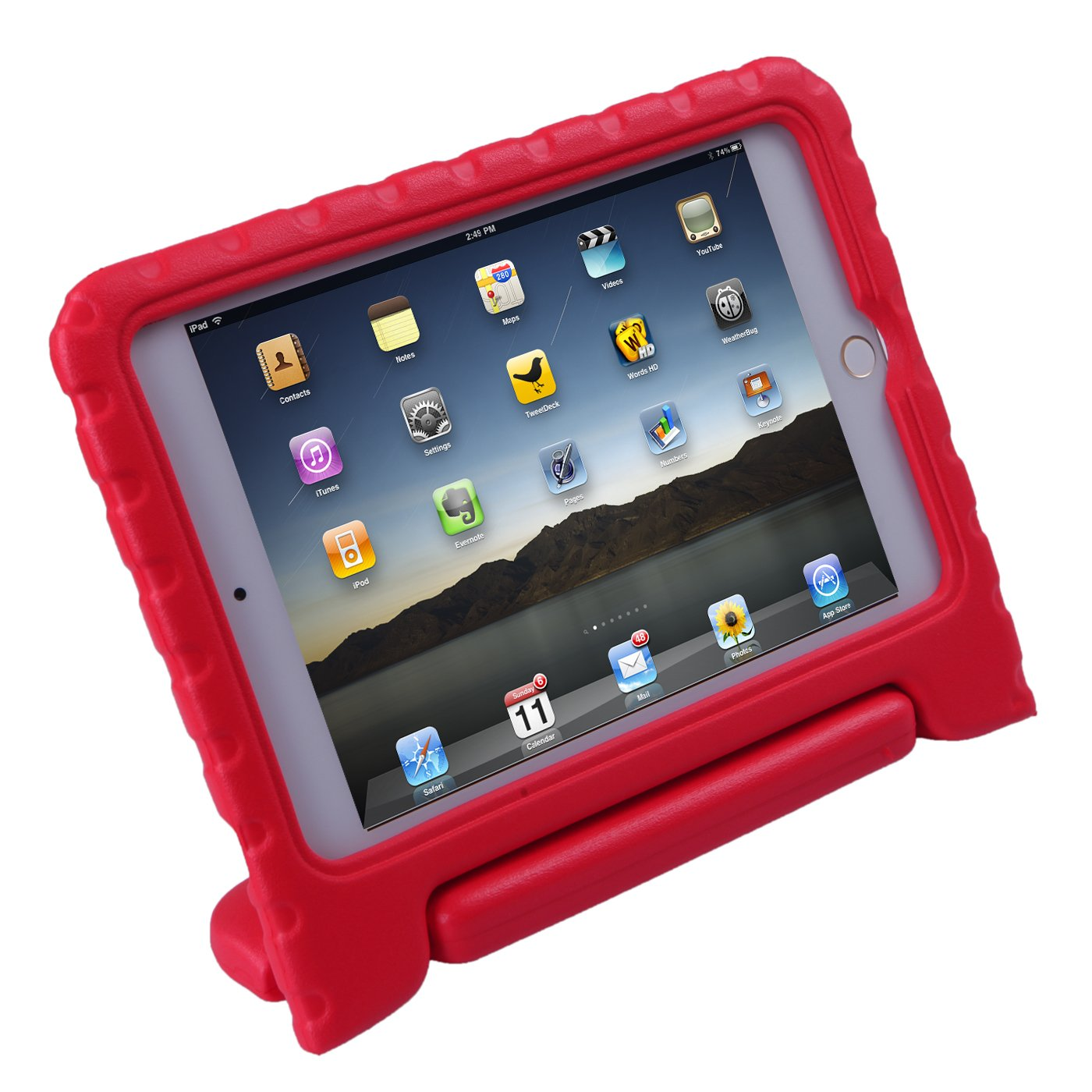 HDE Case for iPad Mini 4 - Shockproof Case for Kids with Stand Convertible Lightweight Cover for 4th Generation Apple iPad Mini 4-2015 Release (Red) HDE-D358 NEW15
