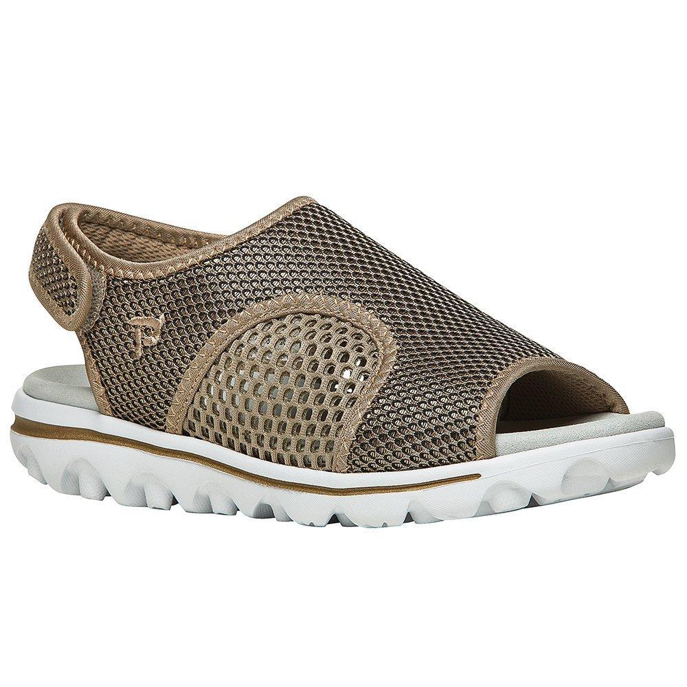 Propet Women's TravelActiv Ss Sandal B01IODBNGE 5.5 B(M) US|Gold, Black