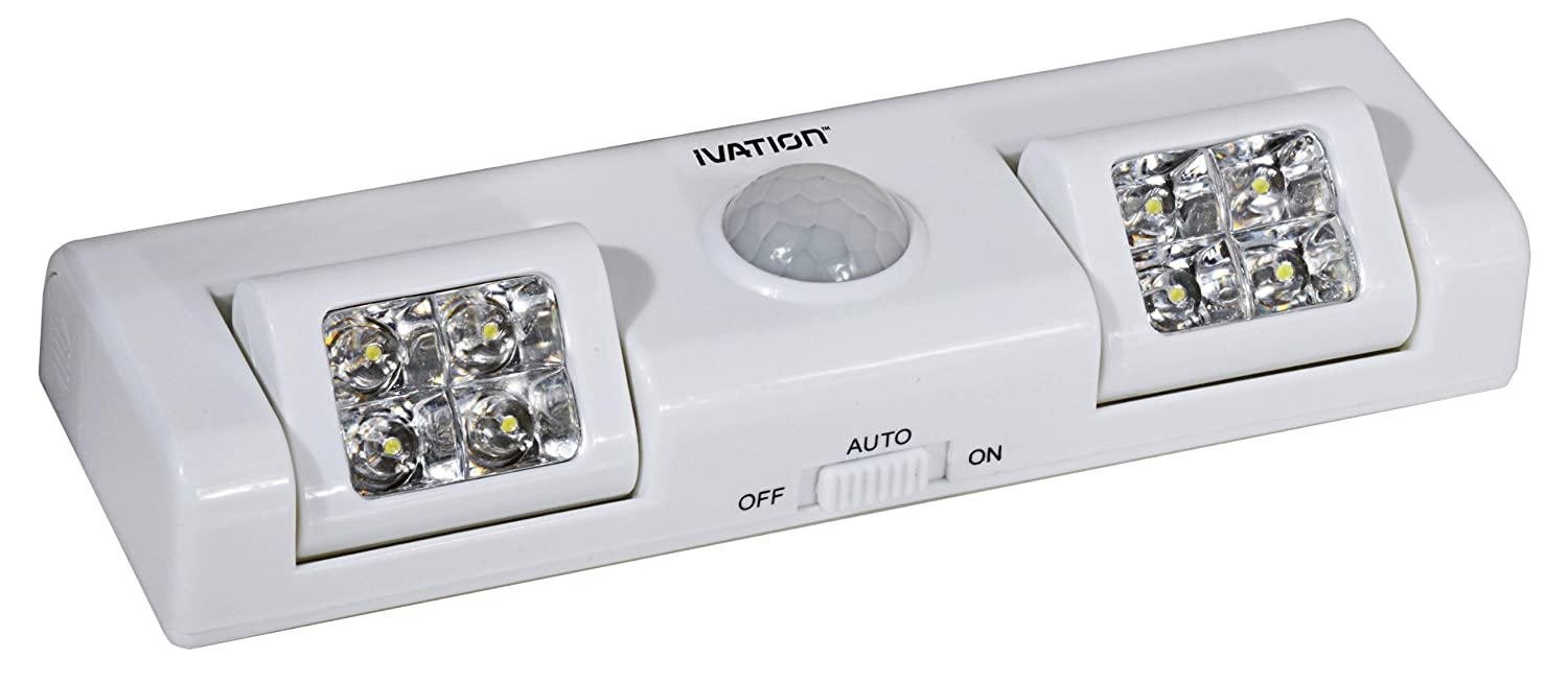 Ivation 8 Led Automatic Motion Sensing Directional Night Light Emergency Battery Powered The Lights Can Be Adjusted Up To 90 Degrees