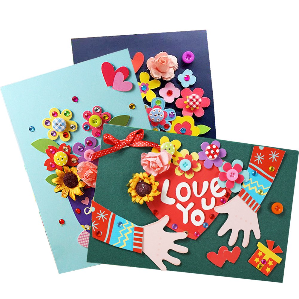 Amazon 3 Kinds Of 3D Creative Birthday Cards DIY Handmade Thank Love Greeting CardsRandom Color Style For Sending Office