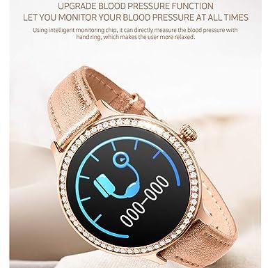 Pulsera de Piel m8 Smartwatch para Mujeres, pulsómetro, presión ...