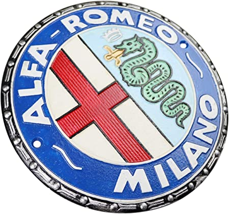 ALFA ROMEO MILANO Schild Enamel sign Emailschild Emaille Emblem 40 cm