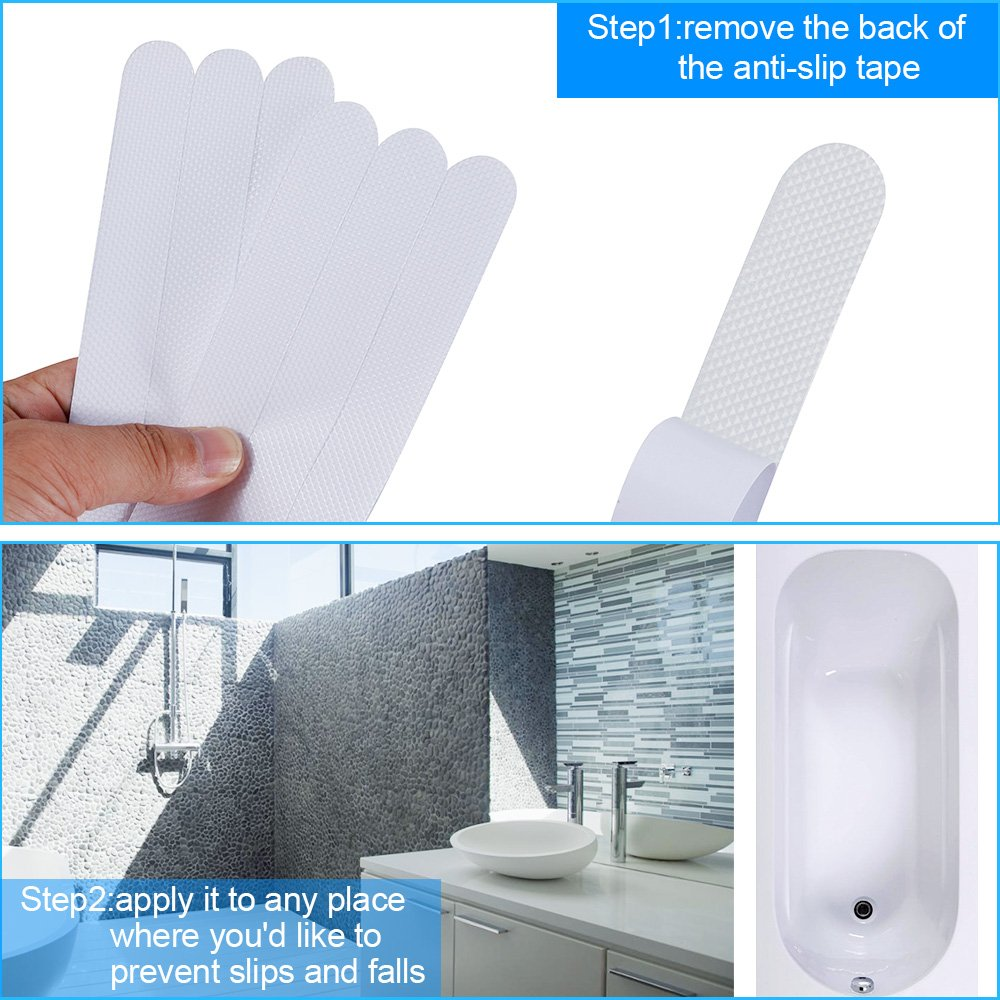 Rovtop Non Slip Strips Stickers for Bathtubs Showers Stairs and Floors