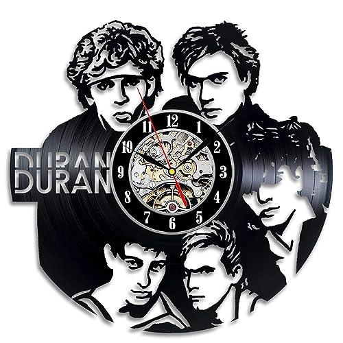 ArtoriDesign18 Duran Duran Wall Clock Made of Vinyl Record – Handmade Original Design – Great Gifts idea for Birthday, Wedding, Anniversary, Women, Men, Friends, Girlfriend Boyfriend and Teens