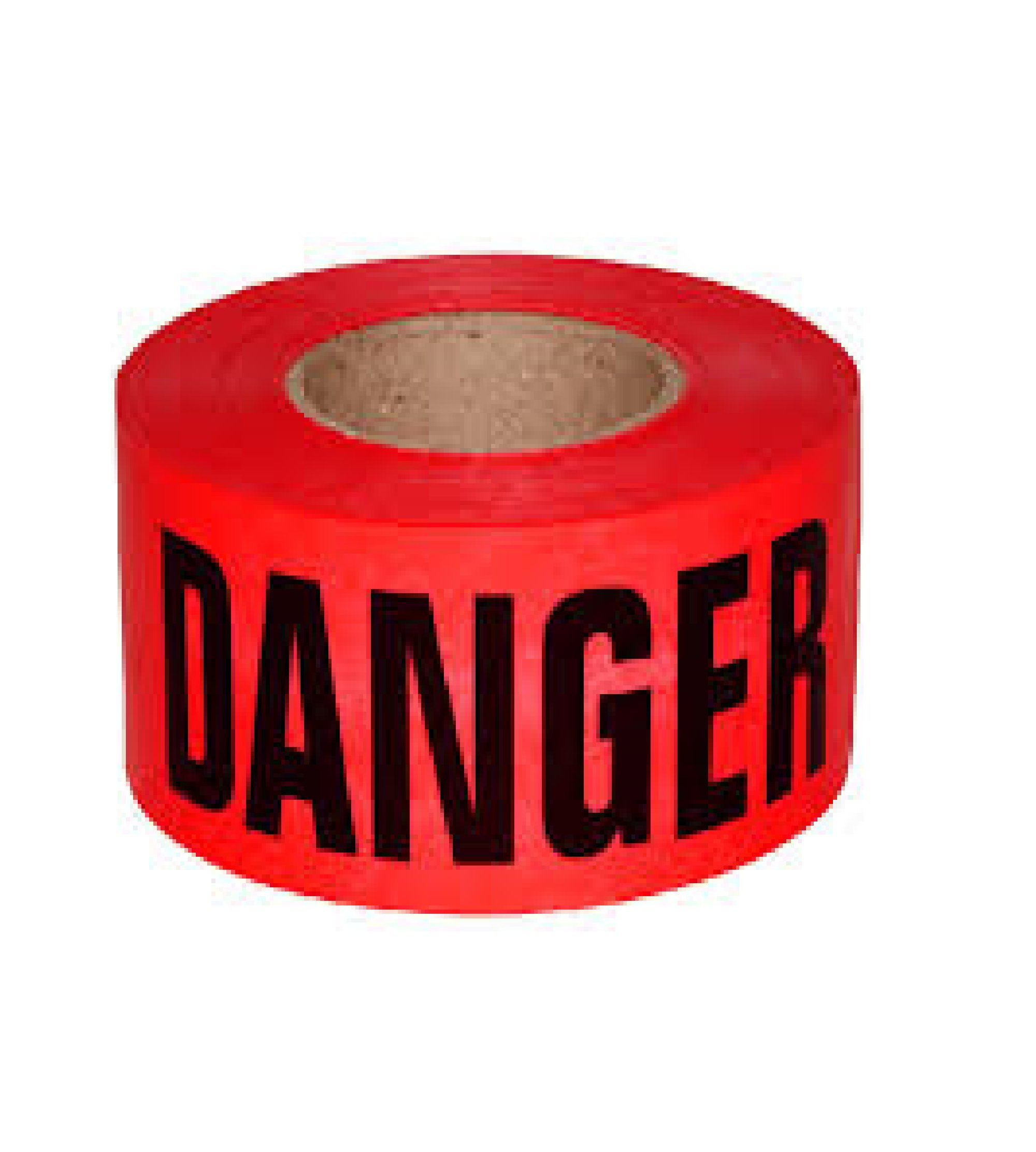 C&W Red Danger Barricade Ribbon Tape - 3'' X 1000 ft • Bright Red with a Bold Black Print for High Visibility • 3'' wide for Maximum Readability • Tear Resist Design • Danger Tape.