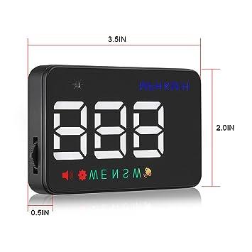h MPH /Über Geschwindigkeit Alarm Tachometer Fahrzeug SUV Zigarettenanz/ünder Powered /& 2 Displays Alternativen mit Copmass GOGOLO 3.5  A5 GPS HUD Head Up Display Km