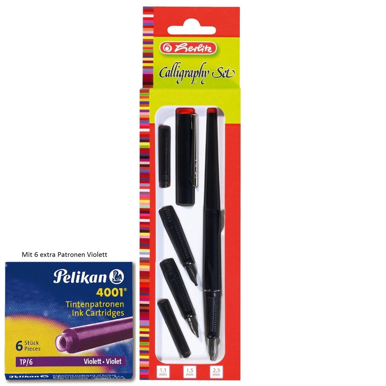 Herlitz 8623001 5-teiliges Füllhalter Calligraphy-Set: Amazon.de ...