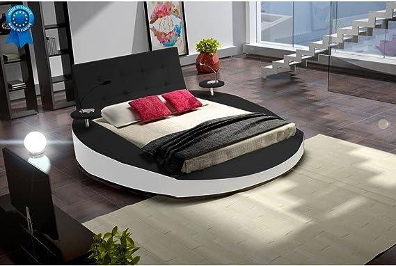 Cama redondo, 180 cm, diseño de Tiziana x 200 cm, con colchón ...