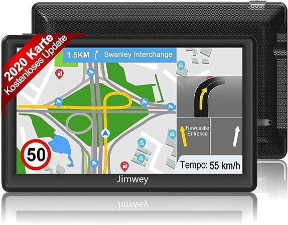 Jimwey Navigationsgerät Für Auto Navigation Lkw Navi 7 Zoll 16gb Lebenslang Kostenloses Kartenupdate Mit Blitzerwarnung Poi Sprachführung Fahrspurassistent 2020 Europa Uk 52 Karten Navigation