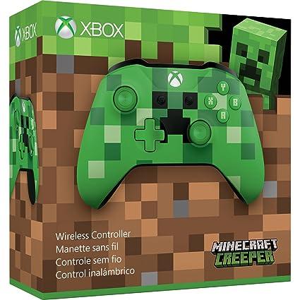 Amazon Com Microsoft Xbox Wireless Controller Minecraft Creeper Xbox One Discontinued Video Games