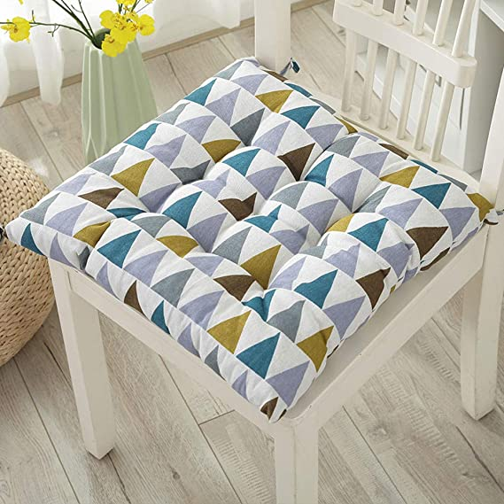 Amazon.com: Cojines para silla de 100 % algodón | 15.7 x ...