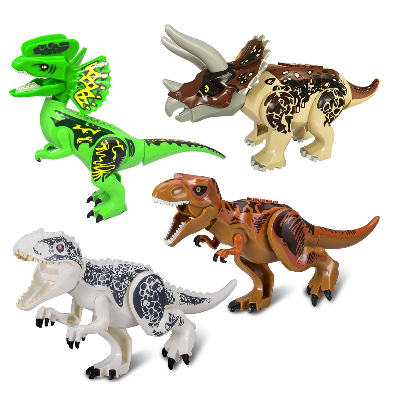 BeneGlow 8 Sets Liftlike Multicoloured 3D Jigsaw Puzzles Mini Dinosaur Building Blocks for Children BG-100045 Dinosaurs