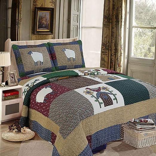 highbuy ropa de cama Colección Reversible Colcha Patchwork – Juego ...