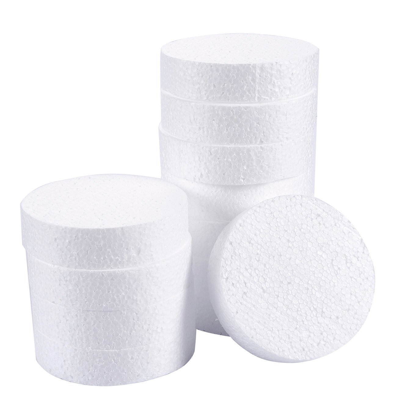 Foam Circles, Arts and Crafts Supplies (4 x 4 x 1 in, 12-Pack)