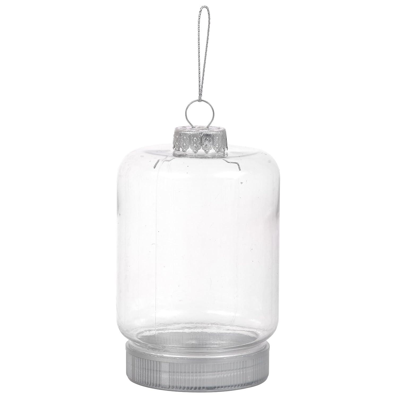 Set of 2 DIY Clear Plastic Mason Jar Style Ornament