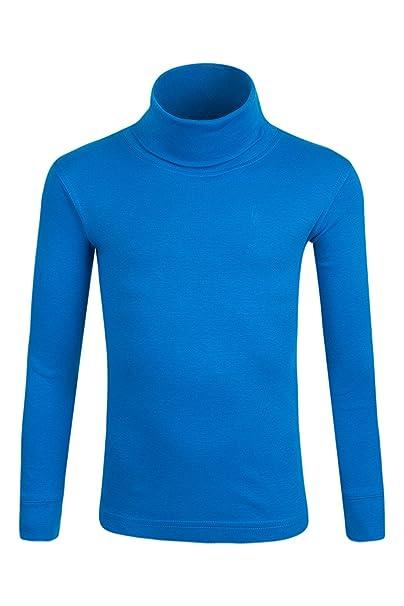 Mountain Warehouse Camiseta de algodón con Cuello Vuelto Meribel para niños   Amazon.es  Ropa y accesorios bf82dc6c522