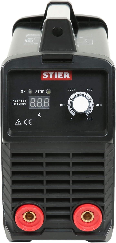 STIER Elektroden-Schwei/ßger/ät Inverter 180 A 230 V