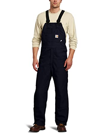 0c1bf785bf6 Amazon.com  Carhartt Men s Flame Resistant Duck Bib Lined Overall ...