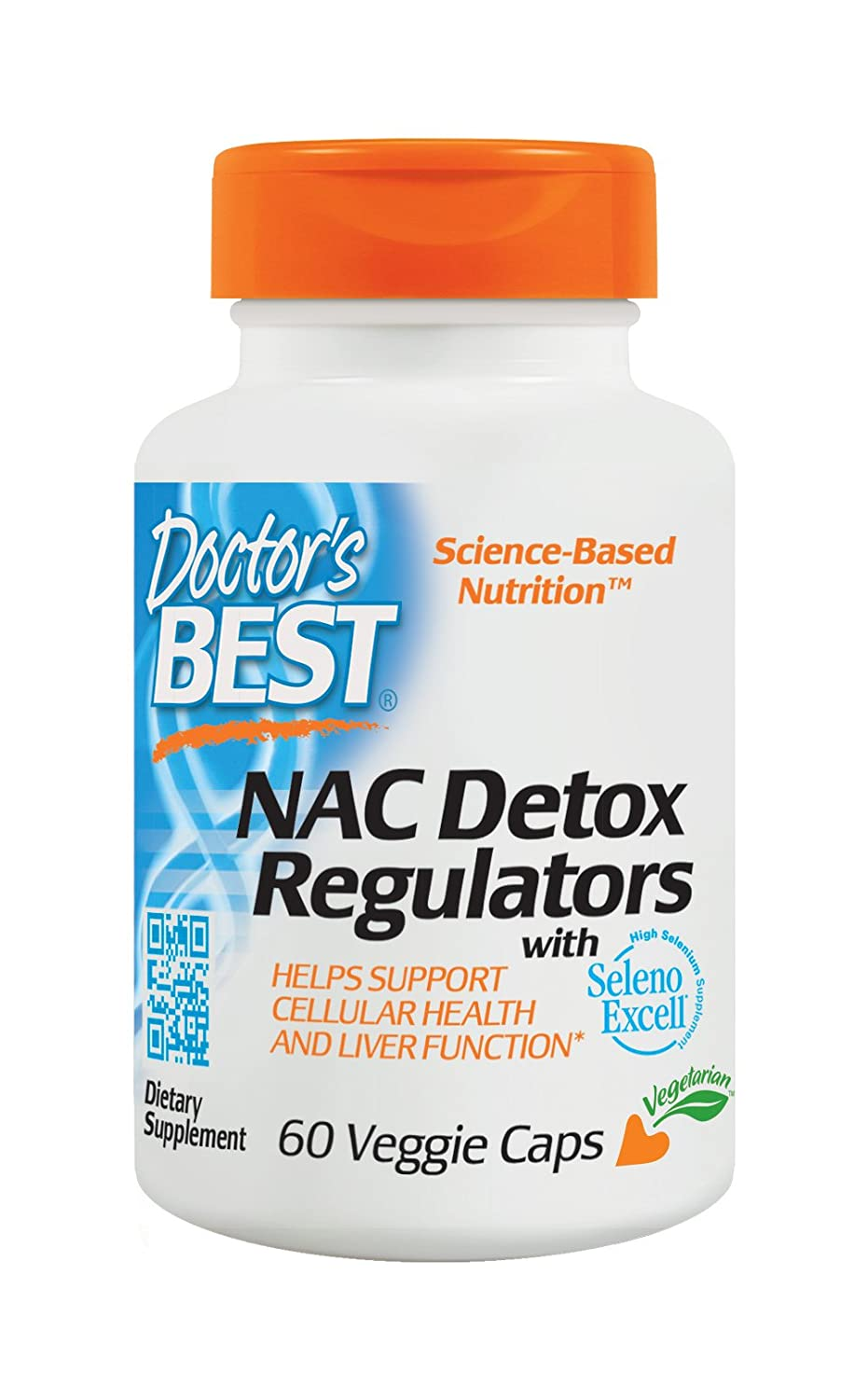 Doctors Best | NAC Detox Regulators | 60 cápsulas veganas | sin ...